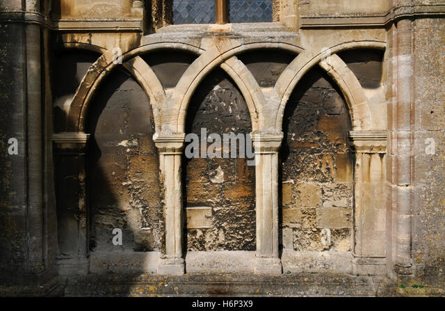 Blind Arcade On Exterior Wall Of The South Aisle Nave C12th 1180
