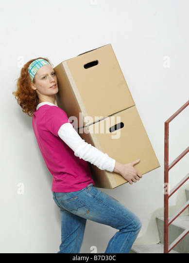 how to move boxes up stairs