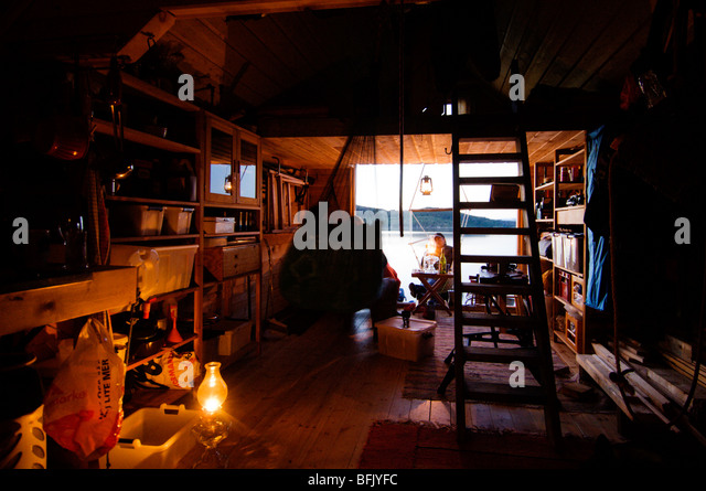 The Interior Of A Cottage, Sweden.   Stock Image