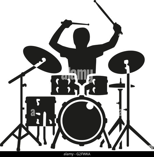 how to draw a drum set cartoon