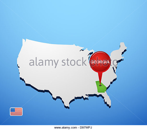 Georgia Country Map Stock Photos Georgia Country Map Stock - Georgia on usa map