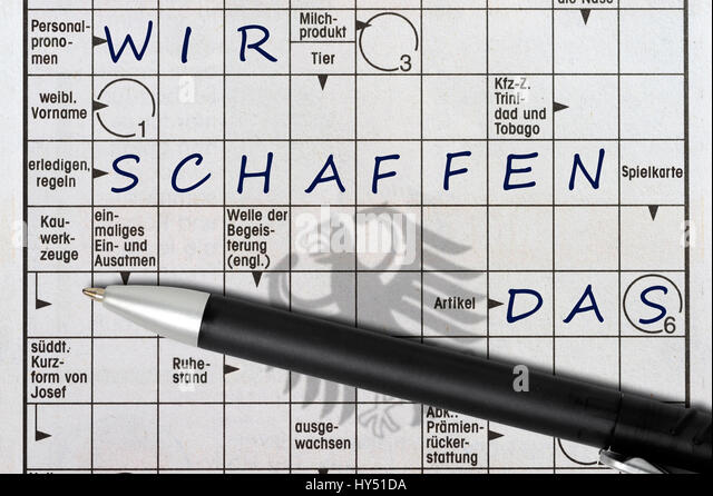 Crossword Puzzles With The Concepts We, Create, The Shade Of The German  Federal Eagle