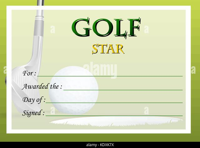 Golf Certificate Templates For Word Mandegarfo