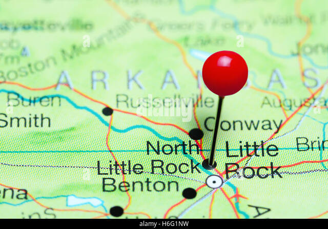 Usa Arkansas Little Rock City Stock Photos Usa Arkansas Little - Arkansas usa map