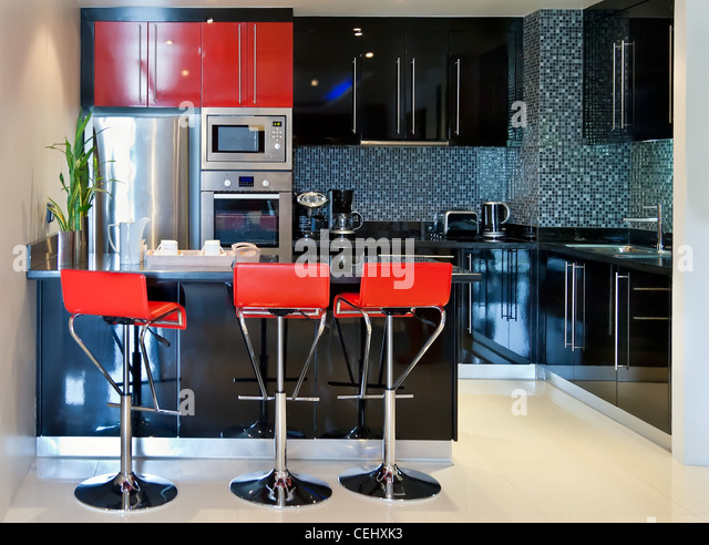 red chairs modern furniture stock photos & red chairs modern