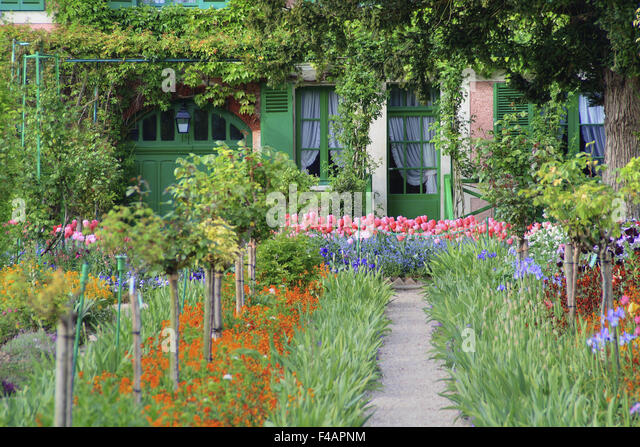 monets garten stock photos monets garten stock images alamy. Black Bedroom Furniture Sets. Home Design Ideas