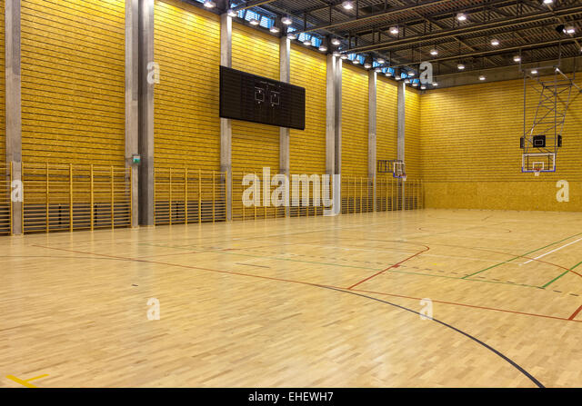 Gymnasium school building stock photos gymnasium school for Building indoor basketball court