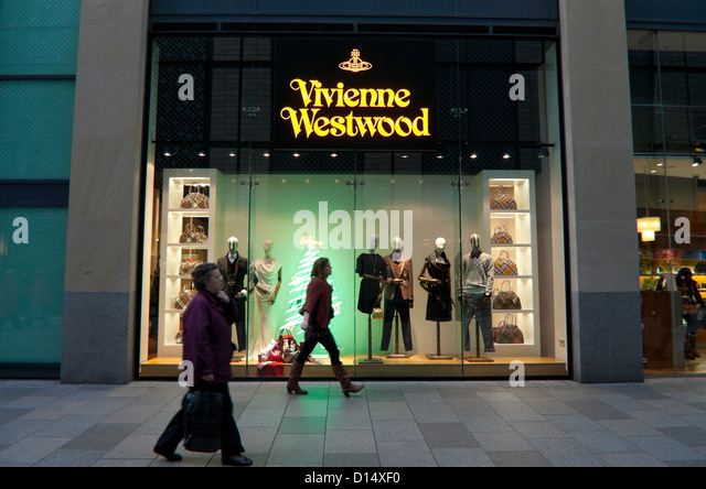 Exterior View Of London Fashion Designer Vivienne Westwood Store At Christmas Cardiff Wales UK KATHY DEWITT
