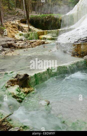 bagni san filippo toscana amiata waterfall terme hot water wild