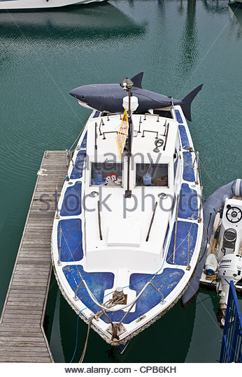Shark Boat Toy : Toy shark stock photos images alamy