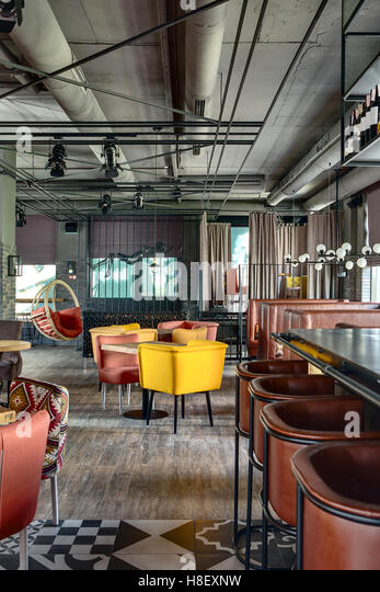 Mexican restaurant interior stock photos