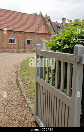 Driveway gate stock photos images