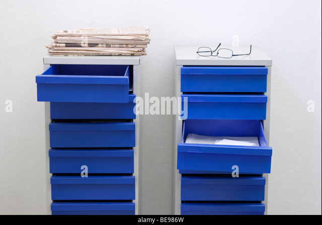 Filing Cabinet And Papers Stock Photos & Filing Cabinet And Papers ...