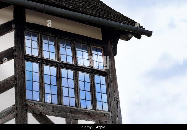 Tudor Windows tudor window detail stock photos & tudor window detail stock
