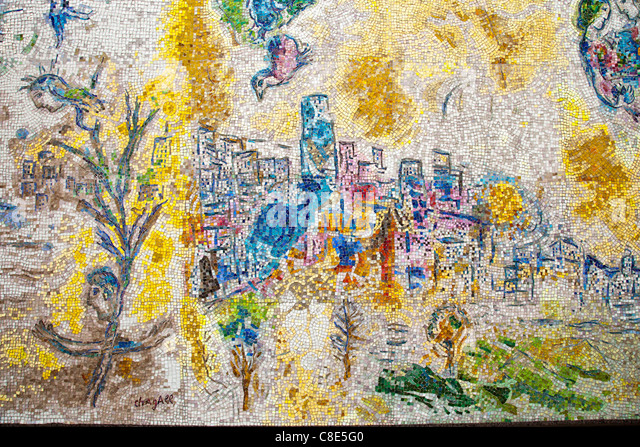 Chagall painting stock photos chagall painting stock for Chagall mural chicago