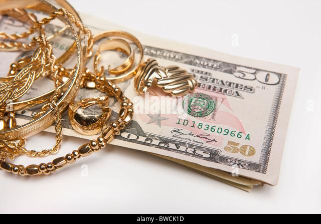 Gold Dollar Necklace Stock Photos Amp Gold Dollar Necklace