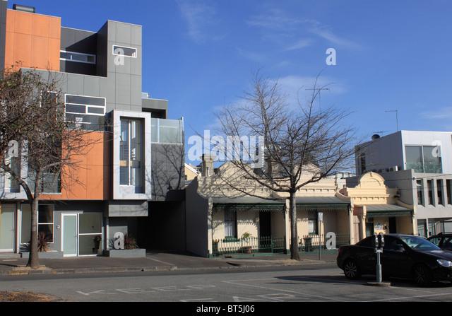 Modern Architecture Melbourne modern australian architecture balcony stock photos & modern