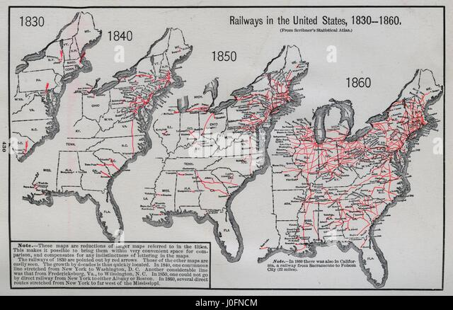 Map Stock Photos Map Stock Images Alamy - Map of us in 1850