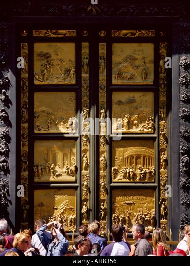 Florence Tuscany Italy Ghiberti\u0027s Doors of Paradise on Battistero - Stock Image & Ghiberti Doors Florence Stock Photos \u0026 Ghiberti Doors Florence ... Pezcame.Com