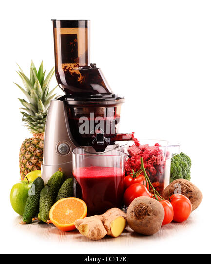 Slow Juicer Diet Recipes : vegetable Juicer Stock Photos & vegetable Juicer Stock ...