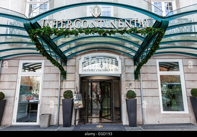 Glass canopy hotel entrance stock photos glass canopy - Hotel intercontinental porto ...