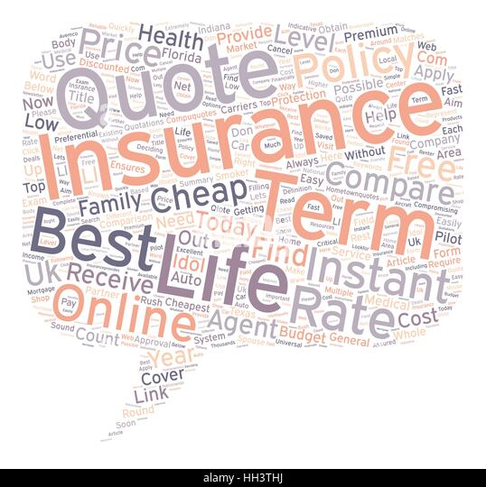 Instant Online Life Insurance Quote Amazing Online Insurance Quotes Text Background Stock Photos & Online