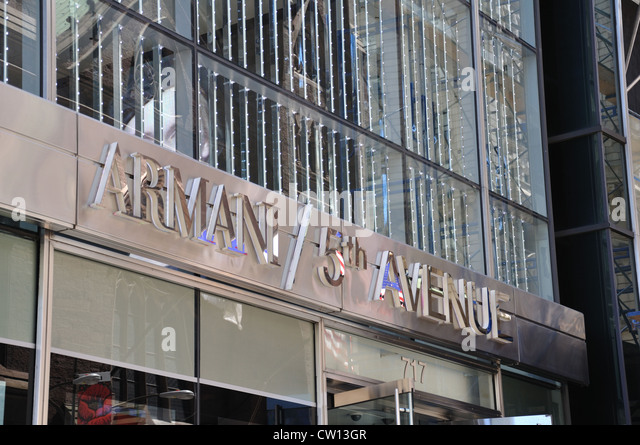 Armani 5th ave store stock photos armani 5th ave store for Armani store nyc