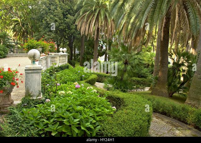 the garden of the palazzo durazzo in santa margarita ligure at the hy24h1 - Garten Durres