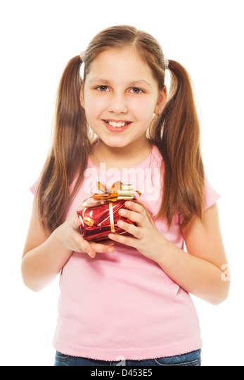 Happy Teen By Crumbling Wall Stock Image: Wrapped Gift For Teen Stock Photos & Wrapped Gift For Teen
