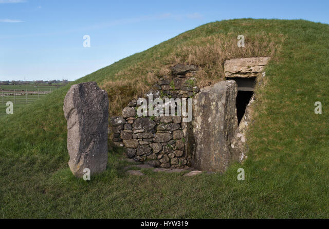 Neolithic Burial Chamber Of Bryn Celli Ddu Anglesey Wales