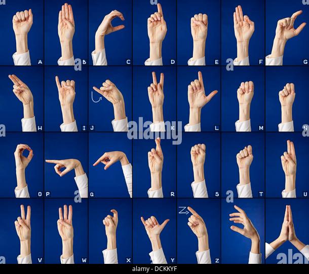 Asl Letter V Hand Sign Language Alp...