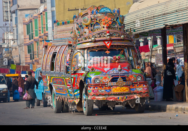 Pakistani Bus Stock Photos Pakistani Bus Stock Images