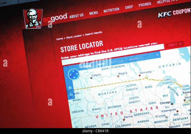 Kfc Fast Food Restaurant Website Stock Photos Kfc Fast Food - Us map of fast food restaurants