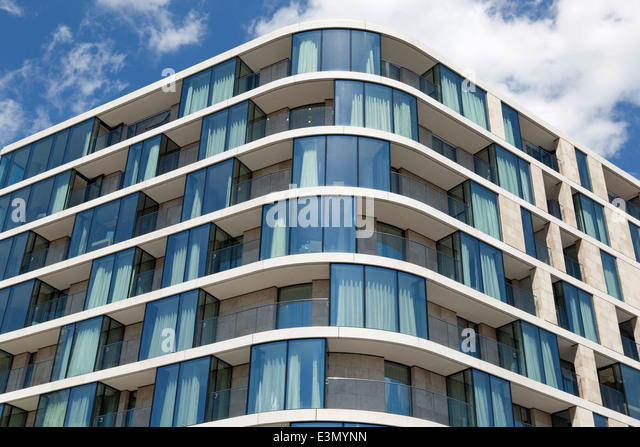 Facade Of A Modern Apartment Building In London, England   Stock Image Part 96