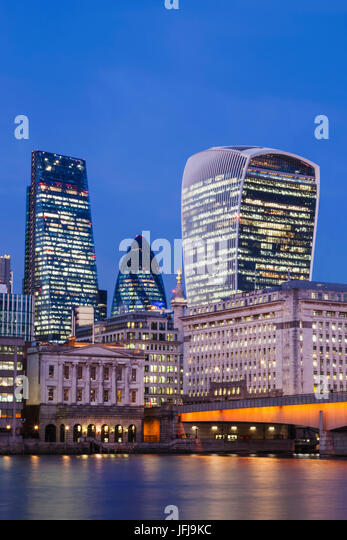 England, London, City of London Skyline - Stock Image