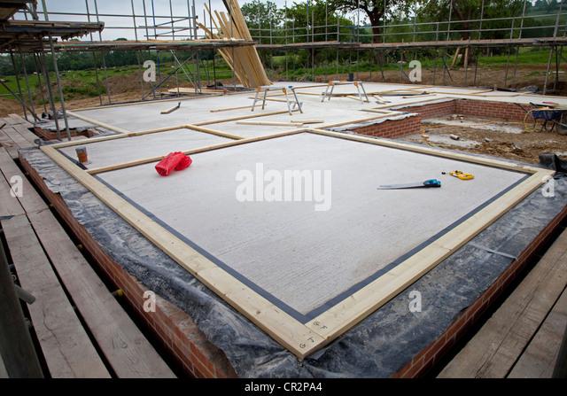 Sole Plates For Timber Frame Building Laid Out On Foundation Slab Colemans  Hill Farm Ecobuild Mickleton