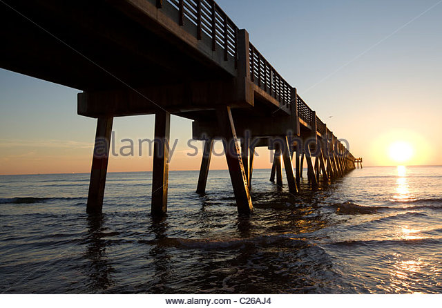Jacksonville florida atlantic beach stock photos for Fishing piers in jacksonville fl