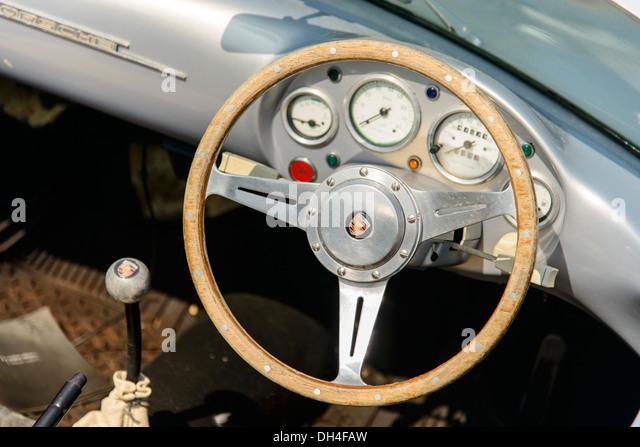 a porsche spyder 550 parked at the yacht marina antibes france stock - Porsche Spyder 550