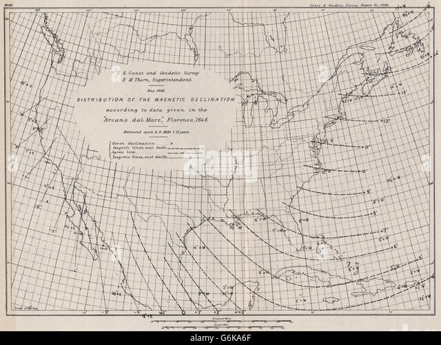 Declination Stock Photos Declination Stock Images Alamy - Magnetic declination map us