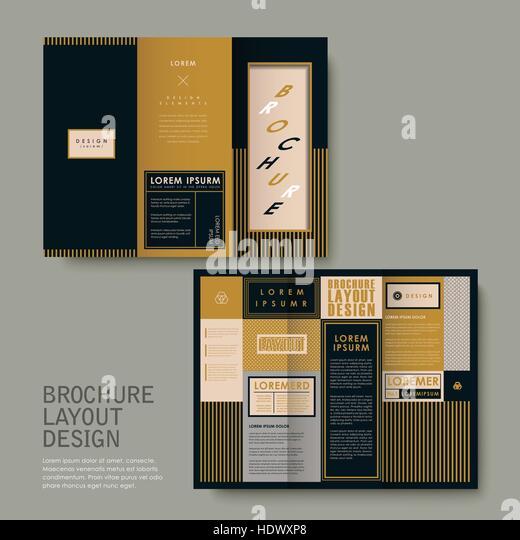 corporate dark brochure design golden stock photos. Black Bedroom Furniture Sets. Home Design Ideas
