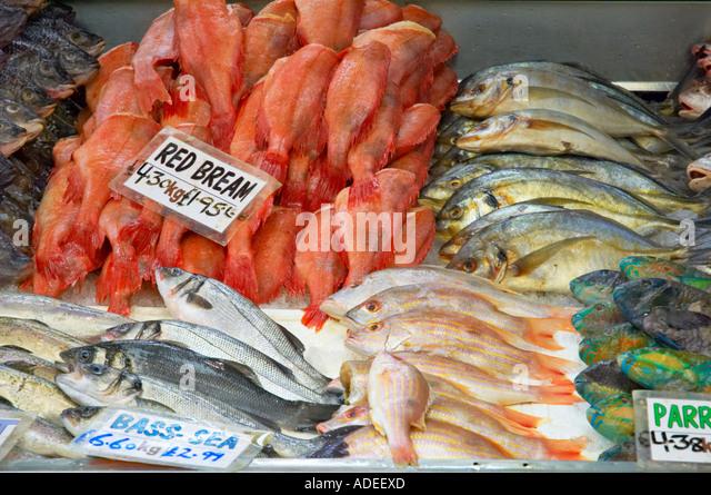 Queens market upton park stock photos queens market for Fish market queens