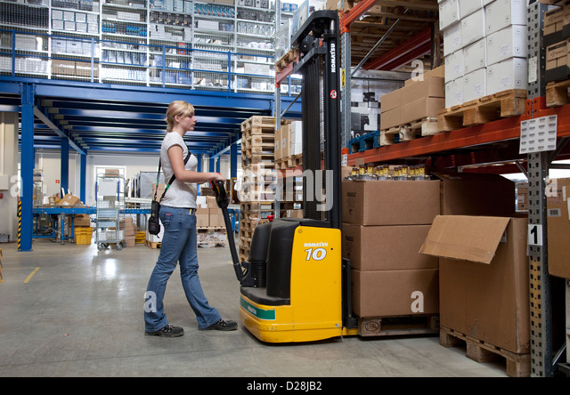 duisburg germany trainee specialist for warehouse logistics stock image - Warehouse Specialist