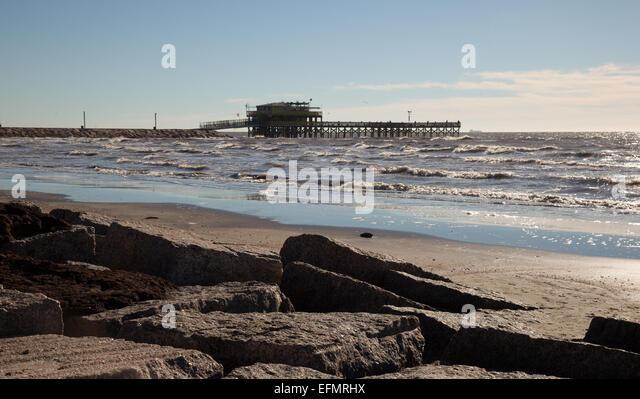 Galveston texas pier stock photos galveston texas pier for Galveston fishing pier