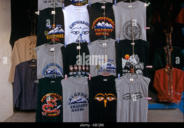 Souvenir souvenirs tshirt stock photos