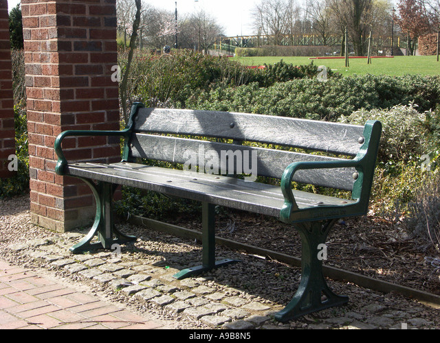 Park Bench With Seating Made From Recycled Plastic.   Stock Image