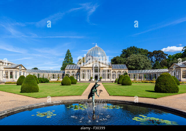 The Great Conservatory In Gardens Of Syon House Park West London