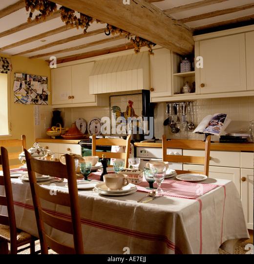 English country kitchen stock photos english country for English country cottage kitchen