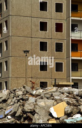 Old Concrete Buildings : Wrecked concrete building stock photos