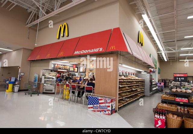 Mcdonalds Restaurant Inside Wal Mart Supercenter Stock