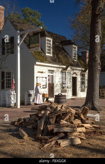 Williamsburg, Virginia   The Post Office At Colonial Williamsburg.   Stock  Image